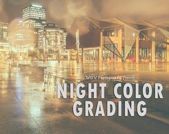 Night Color Grading Lightroom Presets, portrait, landscape, vintage, retro, film, travel, blogger, color, matte, preset, presets