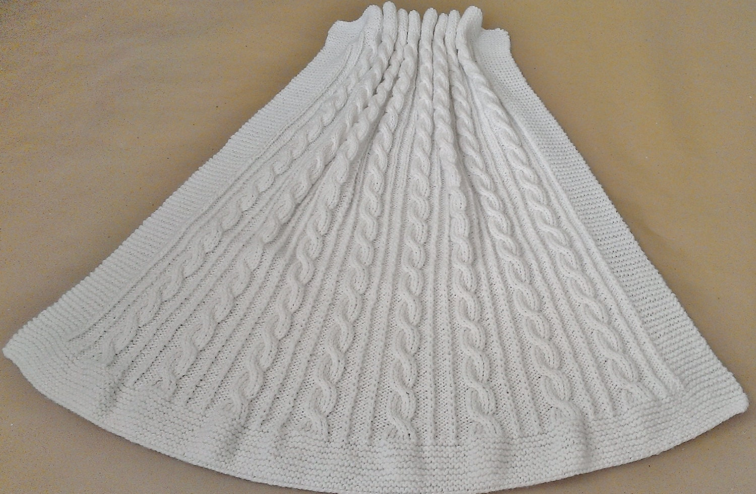 Knitting Pattern: Lovely Cabled Baby Blanket Knitting Pattern from ...