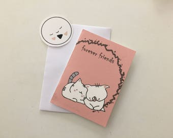 folded card Choumi Michou : forever friends