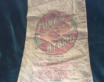 1960's Seed Sack- Bloomington, IL