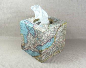 Carte Vintage boîte de mouchoirs, cadeau pour elle, boîte de tissu, carte Vintage, stockage de tissus, porte de boîte à mouchoirs de papier, la Saint-Valentin, emballage cadeau gratuit