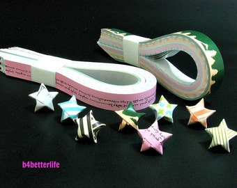 250 strips of DIY Origami Lucky Stars Paper Folding Kit. 26cm x 1.2cm. #C131. (XT Paper Series).