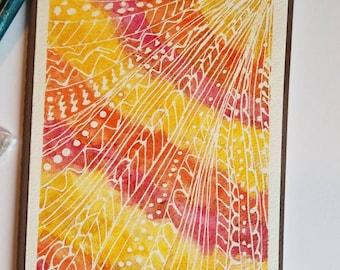 Art Journal with Handmade Watercolor Art Front
