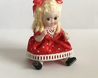 "Great 3""Bisque Googly Doll artist made"