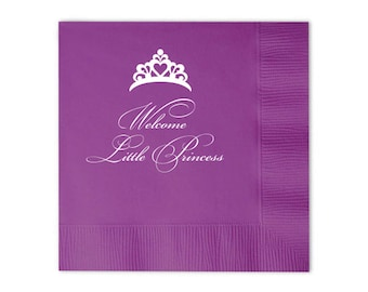 Welcome Little Princess Personalized Napkins