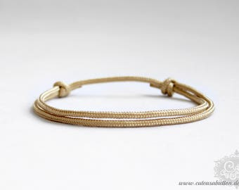"cute as a button ""SAILING rope / skinny - stay gold"" Armband"