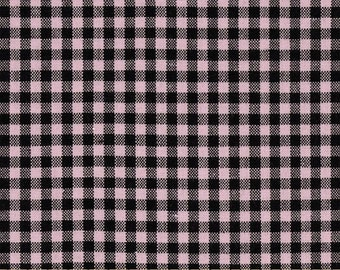 Carolina Gingham by Robert Kaufman - 1/8 Pink Black - Sold by the yard