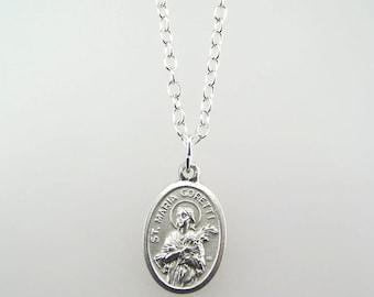 Saint Maria Goretti Medal Necklace