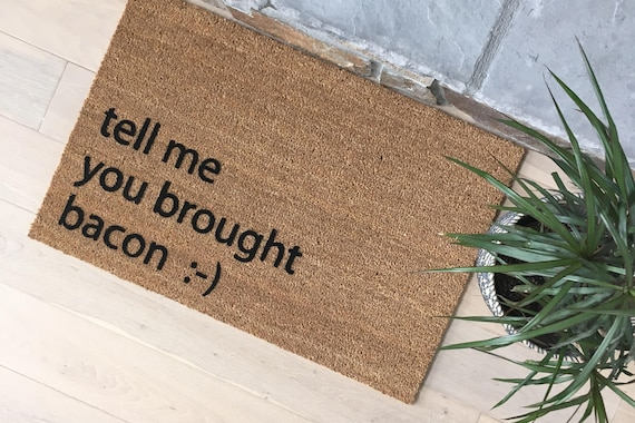 Gifts for Dad, Gifts for Him, Unique Gifts, Funny Door Mats, Welcome Mat, Bacon Lover Gifts
