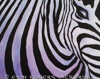 Zebra Portrait original acrylic painting