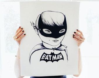 Bat Boy Poster Print
