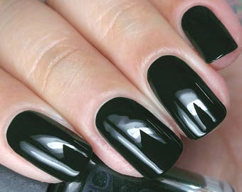 Emerald Green Nail Polish You Goth To Be Kidding Me Gothic Family Jewels Bath And Beauty Gift Under 10 Gift For Her Pepper Pot Polish
