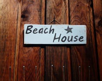 Beach House Sign | Reclaimed Pallet Wood Sign | Rustic Beach House Sign | Rustic Sign | Home Decor | Housewarming | Ocean living | Gift