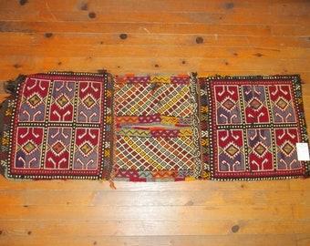 Etsy's 13th Birthday Sales Saddle Bag, Kilim Saddlebag, Turkish Nomadic Saddlebag,Home decor,Heybe 1,40*0,52 cm