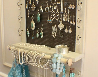 Rustic jewelry rack Etsy