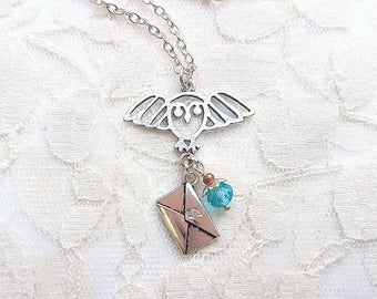 Owl Post INSPIRED personalised necklace