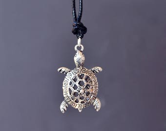Sea Turtle Necklace, Turtle Necklace, Beach Necklace, Turtle Jewelry, Sea Turtle, Tortoise, Short Necklace, Ocean Jewelry, Small Turtle