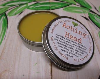 Headache Balm Salve Natural Headache Organic Balm Migraine Sinus Headache Tension Headache Balm Vegan Headache Salve Headache Natural Balm