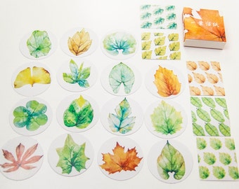 40 sticker set/leaves/DIY Filofaxing scrapbooking Aufkeber