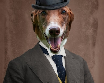 Greyhound Art Italian Animal Photography Dog Print Pet Portrait Gift for Dog Lover Pet Lover The Lonely Pixel Print - Happy Ben