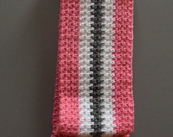 Pink and Grey Scarf