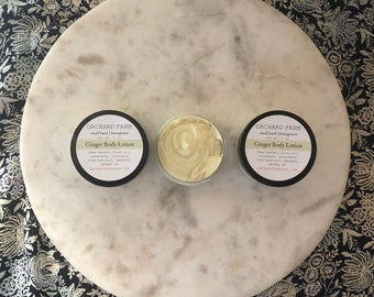 Ginger Body Cream// Natural Lotion// Shea Butter