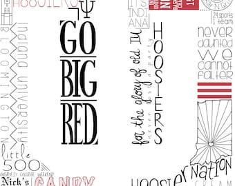 Indiana University Word Collage