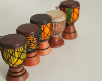 Special Offer!! Buy 4 Handmade African Drum Keyrings get a 5th for half the price!!! (box sold separately)