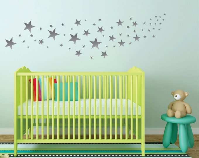 Star Wall Decals, Nursery Name Sign, Nursery Decor, Vinyl Decal, Baby Girl Name Signs, Nursery Wall Decal, Personalized Baby, Custom Name