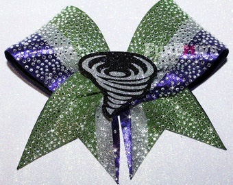 Twisters Tornado Rhinestone Cheer Bow  by FunBows  - Customize It !