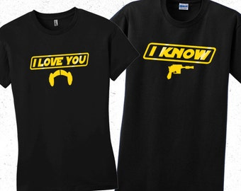Star wars Princess Leia women's t shirt. I love you Valentines day shirt