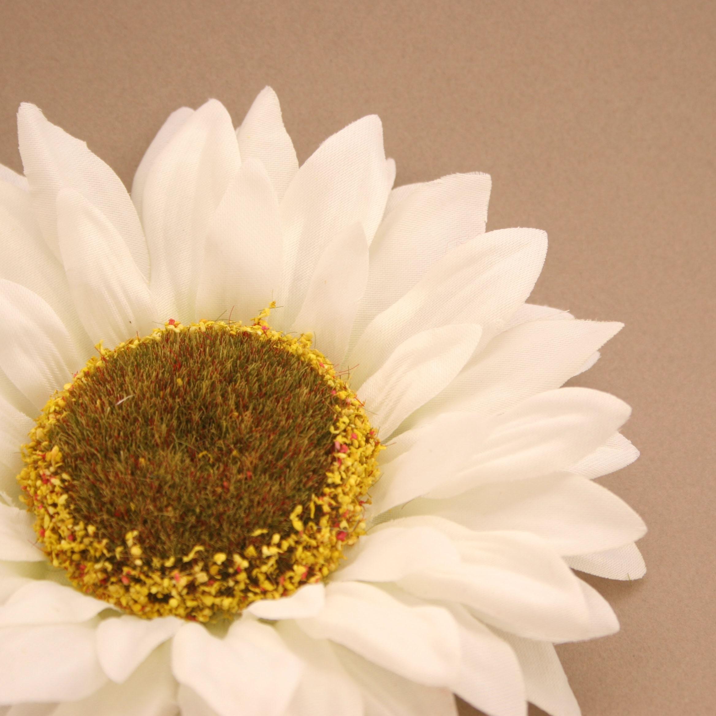 Large Cream White Sunflower Artificial Flowers Silk Flower