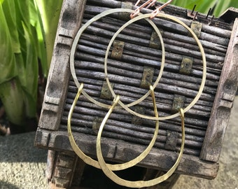 Raw brass hoops