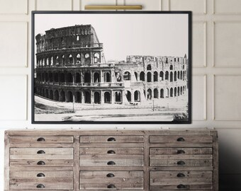 Colosseum Photo print : The Colosseum In Rome Photograph - Vintage Roman Coliseum Art - Circa 1890s - Vintage Coliseum Photo - Rome Art