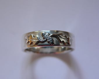 Silver Oak Ring