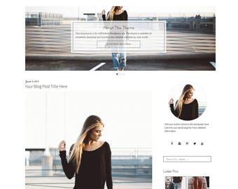 WordPress Theme | Black and White WordPress Blog Theme | WordPress Fashion Blogger Theme | WordPress Theme Responsive | Genesis