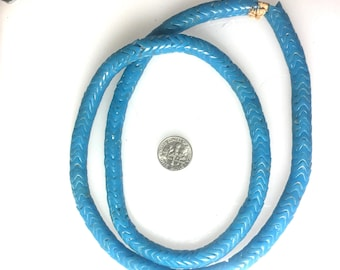 Turquoise Snake Beads 28 inch strand 10mm #2