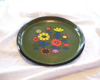 Mod Plastic Tray  Flower Power  Japan Vintage