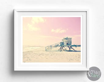 Beach Art Print, Beach Wall Art, Printable Beach Art, Beach PRINTABLE, California Beach Art, Beach Prints, Beach House Decor, Beach Decor