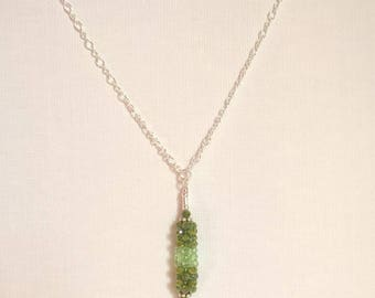 Silver swarovski Yana Allied chain necklace