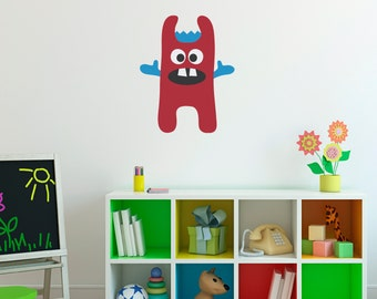 Monster Wall Decal 5 - Monster Wall Decor - Children Wall Decals - Printed Decal