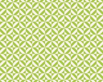 Fun and Games by Lori Whitlock for Riley Blake Designs Green Geometric 1/2 yard