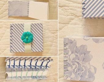 Blue Stripe-Floral Sketchbook Bundle (2)