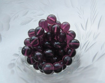 Czech Preciosa Smooth Round 10mm Amethyst Beads 25Pcs.