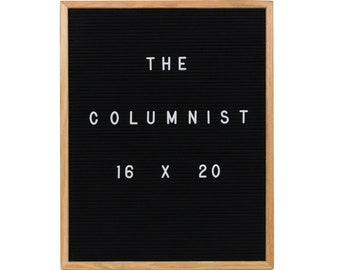 "Felt Letter Board Black 16X20 With 350-Piece Set of 1"" Letters and Symbols. Includes Free Letter Pouch"