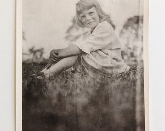 Original Vintage Photograph | The Girl From the Meadow