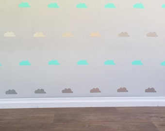 Cloud Wall Decals - Removable vinyl wall decals/stickers