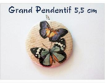 Large 5.5 cm Retro Butterfly pendant