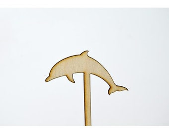 Laser Cut Toppers - Dolphin - TR-020 - PK of 6 for Cakes, Cupcakes, Donuts and More