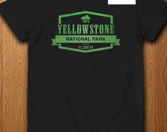 Yellowstone National Park T Shirt Wyoming America State Park
